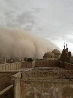 Notre première fois... au cœur d'une tempête de #sable en Iran