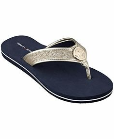 Glitter Flip Flops, Fall Flats, Flip Flop Shoes, Hilfiger Denim, Tommy Hilfiger Women, Girls Best Friend, Hair Jewelry, Designer Shoes, Shoes Sandals