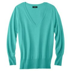 Mossimo® Women's Plus-Size Long-Sleeve V-Neck Pullover Sweater - Assorted Colors