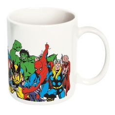 I think I've found my new work coffee cup! Marvel Ceramic Mug Set Of 2, $13.50, now featured on Fab.