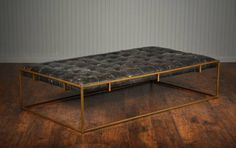 Tufted Leather Coffee Table Ottoman Me Gardens