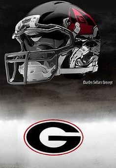 Great season, DAWGS!  It's a game of inches (and seconds).  University of Georgia Bulldogs - concept football helmet