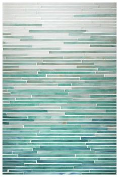One of the top trends in home decor for 2014 is ombre. Here are some amazing examples that will inspire your colorful side in your home projects! Glass Tile Bathroom, Bathroom Colors, Glass Tiles, Mosaic Tiles, Master Bathroom, Bathroom Ideas, Stove Backsplash, Backsplash Ideas, Turquoise Tile