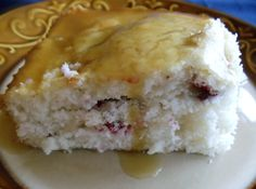 Cranberry Cake with Lemon Butter Sauce