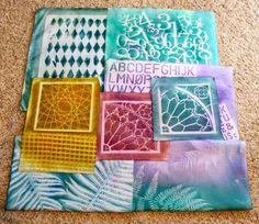 Sun printing with Dye-na-Flow