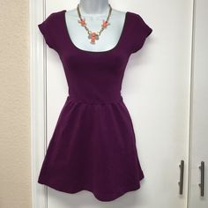 Kimchi blue plum colored dress Plum dress with brown on neckline super cute and has a low back very cute and short ! Brand is kimchi blue but purchased at urban outfitters ☺️ Urban Outfitters Dresses Mini