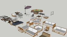 Outdoor Furniture Gallery Outdoor Tables, Outdoor Chairs, Outdoor Furniture, Sketchup Models, Modelos 3d, 3d Warehouse, Urban Planning, Lounges, Grills