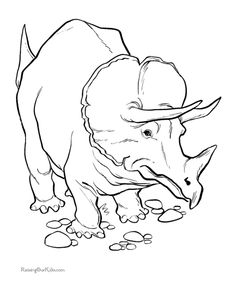 Dinosaur Coloring Pages 001