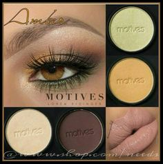 Make your amber eyes pop using Motives Cosmetics! Featuring: Pressed Shadows in Moroccan Spice, Vino, Green Apple, and Whipped Cream. Water Proof Eyeliner in Black Magic. Moisture Rich Lipstick in Barefoot. Shop the look today at www.shop.com/needs Tutorial by @theamazingworldofj