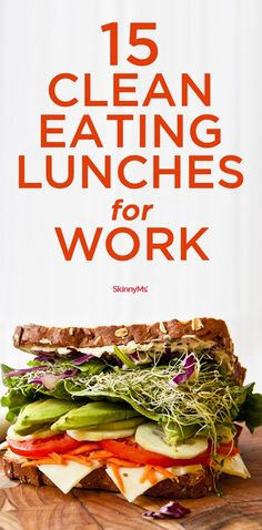 Enjoy this list of 15 Clean Eating Lunches for Work! Enjoy this list of 15 Clean Eating Lunches for Work! Enjoy this list of 15 Clean Eating Lunches for Work! Clean Eating Snacks, Lunch Snacks, Clean Eating Recipes, Easy Healthy Recipes, Lunch Recipes, Whole Food Recipes, Healthy Snacks, Healthy Eating, Clean Foods