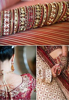 I love this choodha! So beautiful, I wouldn't mind wearing this with my American outfits. I would literally base my outfits to match this choodha Indian Wedding Fashion, Big Fat Indian Wedding, Indian Bridal Wear, Indian Wedding Outfits, Indian Outfits, Indian Fashion, Indian Weddings, Desi Wedding, Wedding Wear
