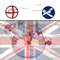 Countryballs-England and Scotlands idea when bored by MyFaceWasStolen