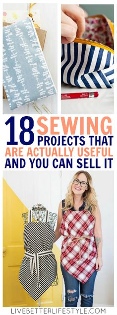 18 Easy Useful Sewing Projects : sewing projects that are useful and you can sell Here's my collection of the best free sewing patterns & tutorials from the web. These easy and useful sewing projects will help you to organize your house! Sewing Hacks, Sewing Tutorials, Sewing Crafts, Sewing Tips, Diy Gifts Sewing, Tutorial Sewing, Diy Crafts, Fat Quarter Projects, Leftover Fabric