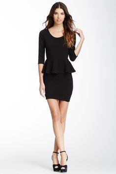 LBD: Textured Peplum Dress