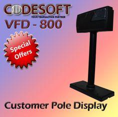Ready Stock !!! #Codesoft Customer Pole Display Memuat 20x2 Character dengan RS-232 interface! Bergaransi Resmi !!!  Info lebih lanjut hubungi 031-5953333