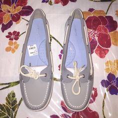 Liz Claiborne Loafers Women's brand new loafers by Liz Claiborne in grey in color w/ netted material...Size 9 1/2 Liz Claiborne Shoes Flats & Loafers