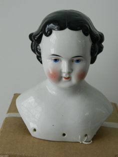 "8"" Tall China Shoulder Head Large Size No Damage Fine Quality Porcelain 