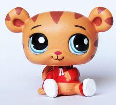 LPS Daniel the Tiger OOAK Custom figure Littlest Pet Shop Tiger's Neighborhood   #Hasbro