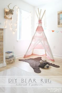 Make your own Bear Rug for $6