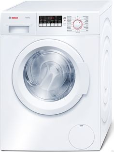 """Bosch WAP24200UC 24"""" Front-Load Washer with 2.2 cu. ft. Capacity, Raindrop Structured Stainless Steel Drum, Anti Vibration Circular Side Walls, 30 Min. Quick Wash and White Door"""