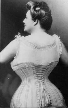 We Can't Forget the Corset for Full Figured and Larger Busted Ladies! c. 1900
