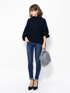 merlotのニット・セーター「ハイネックバルーンスリーブニットトップス1000」を使ったeriko(ZOZOTOWN)のコーディネートです。WEARはモデル・俳優・ショップスタッフなどの着こなしをチェックできるファッションコーディネートサイトです。