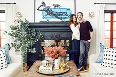 Home Tour: Nina Dobrev's Bright, California-Cool Bungalow via @MyDomaine Painting reminds me of Emily