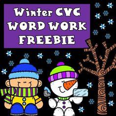Winter CVC Word Work FREEBIE by Bilingual Teacher World | Teachers Pay Teachers