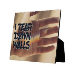 Shop I Tear Down Walls Plaque created by PersonalDevelopment. Tear Down, Crisp Image, Wall Plaques, Surface Design, Cleaning Wipes, Walls, Inspirational Quotes, Signs, Life Coach Quotes