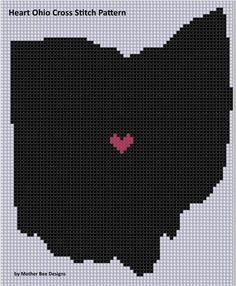 Needlepoint Ohio State Football Sports Buckeyes