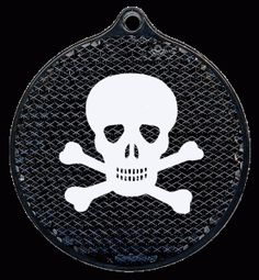 Cool pedestrian safety reflectors Pedestrian, Safety, Skull, Cool Stuff, Biking, Pendants, Beads, Space, Products
