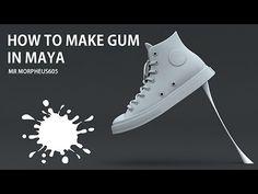 How to Make Gum in Maya(마야에서 껌 만들기)