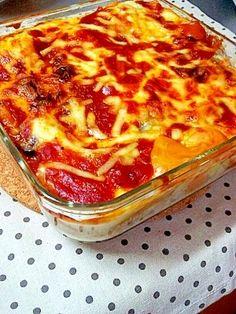 楽天が運営する楽天レシピ。ユーザーさんが投稿した「簡単☆餃子の皮でモッチリ♪茄子のラザニア☆」のレシピページです。ラザニア用のパスタを茹でて使うより、安価な餃子の皮を使ってモッチリ、ナスがトロ~ンとしたラザニアです♪。ラザニア。餃子の皮,茄子,ミートソース(市販),ピザ用とろけるチーズ,<ホワイトソース>,バター,コンソメ,小麦粉,牛乳,水