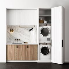 40 Small Laundry Room Ideas and Designs 2018 Laundry room decor Small laundry room organization Laundry closet ideas Laundry room storage Stackable washer dryer laundry room Small laundry room makeover A Budget Sink Load Clothes Laundry Cupboard, Laundry Closet, Small Laundry Rooms, Laundry Room Storage, Laundry In Bathroom, Compact Laundry, Laundry Nook, Bathroom Storage, Laundry In Kitchen