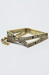 love it! The Policeline Bracelet by Your Eyes Lie $88