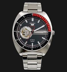Rm660 Jam Tangan Seiko 5 Sports SSA329K1 Automatic Open Heart Black Dial Stainless Steel Bracelet
