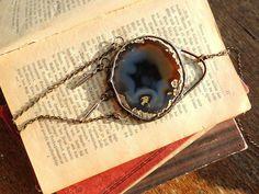 bohemian necklace boho necklace agate necklace by MARIAELA on Etsy