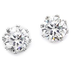 Kenneth Jay Lane Round CZ Stud Earrings ($70) ❤ liked on Polyvore featuring jewelry, earrings, accessories, brincos, joias, cubic zirconia earrings, cz jewelry, cz stud earrings, kenneth jay lane and kenneth jay lane earrings