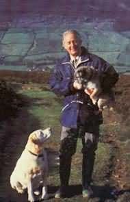 """James Herriot was his pen name - he was born James Alfred (""""Alf"""") Wright in 1916, in England.  He grew up in Scotland, eventuallly ending up in Yorkshire after graduating from Glasgow Veterinary College.  At the age of 50, challenged by his wife, Herriot began his writing career in 1966.  His now famous memoir, ALL CREATURES GREAT AND SMALL, was originally titled, If Only They Could Talk.  Herriot died at home in 1995, at the age of 78"""