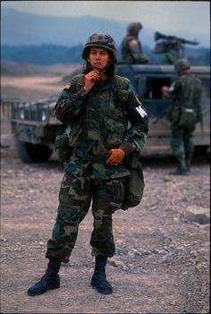 part of peace keeping force at the end of the Bosnian war Military Tactics, Military Gear, Military Police, Twin Towers Falling, Us Army Uniforms, Trail Of Tears, Brothers In Arms, Military Pictures, Female Soldier