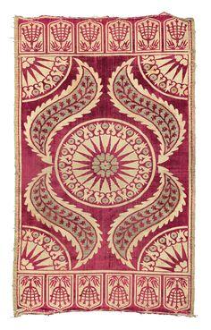 A SILK VELVET AND METAL THREAD WOVEN ÇATMA, TURKEY, 17th Century  / Textiles at Christie's London, October 2014 - HALI
