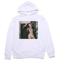 KIM K HOODIE (240 PLN) ❤ liked on Polyvore featuring tops, hoodies, hooded pullover, sweatshirt hoodies, faux leather hoodie, hooded sweatshirt and faux leather top