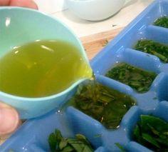 Herbs frozen in oil – try it!