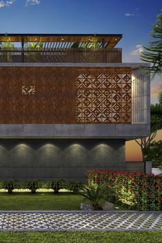 New Facade Lighting Design House 55 Ideas Bungalow Exterior, Bungalow House Design, Modern House Design, Facade Design, Door Design, Exterior Design, Brick Facade, Facade House, House Stairs
