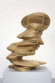 By Tony Cragg. There's a different face depending on the angle from which it is viewed - interesting.