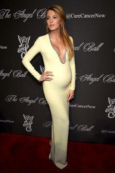 Ideias de vestido de festa para grávidas - Blake Lively no Angel Ball - #pregnant #party #dress #FocusTextil