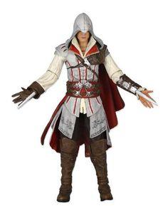 Figura Assassin's Creed 2. Ezio Versión Blanca, 18 cms. NECA