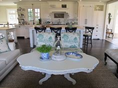 I am hoping everyone had a beautiful Easter weekend.for the first time in my married life we ate out for Easter brunch! The jury is stil. Kitchen Inspirations, Dining Table, House Styles, Table, Cottage Decor, Shabby Chic, Coffee Table, Home Decor, Homey