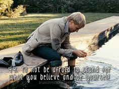 Brian Littrell - To not be afraid to stand for what you believe and be yourself.