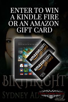 Win a Kindle Fire & Amazon Gift Card from Bestselling Author Sydney Addaehttp://www.ilovevampirenovels.com/giveaways/win-kindle-fire-sydney-addae/?lucky=96900